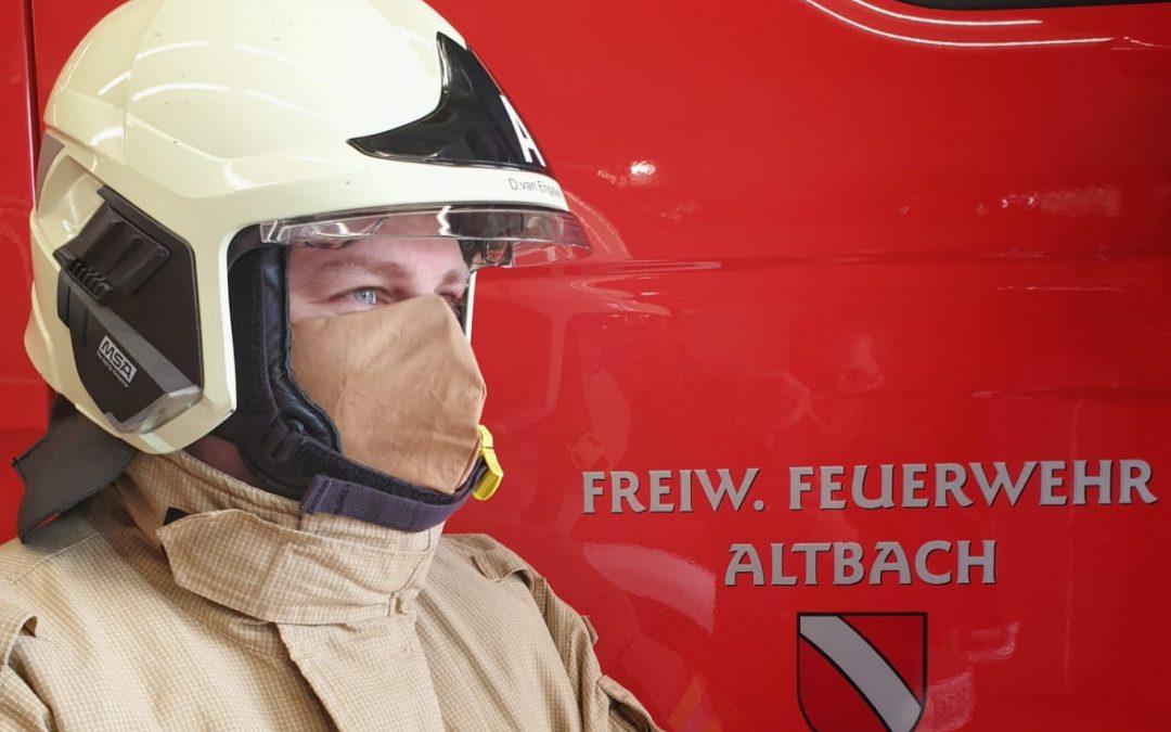 Mund- und Nasenschutz auch im Einsatzfall bei der Feuerwehr